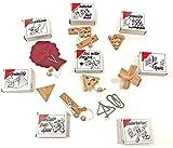 GICO 8 Knobelspiele Holzpuzzle Geduldspiele im Set, einzeln verpackt mit Lösungsheft - als Geschenk...