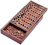 LOGOPLAY Code Finder - Master Code - Superhirn - Strategiespiel - Denkspiel - Logikspiel - Brettspiel aus Holz für 2 Spieler