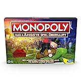 Monopoly – das längste Spiel überhaupt, klassisches Monopoly Spielprinzip mit längerer Spielzeit ab 8 Jahren