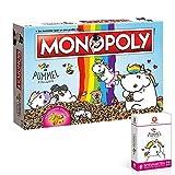 Monopoly Pummeleinhorn Collector's Edition Brettspiel   mit goldener Figur   Einhorn Spiel   Deutsch NEU (mit Kartenspiel Pummeleinhorn)
