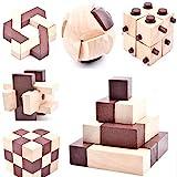 B&Julian  10 Knobelspiele Spielzeug 3D IQ Puzzle Holz Spiele Geschicklichkeitsspiel Denkspiel...